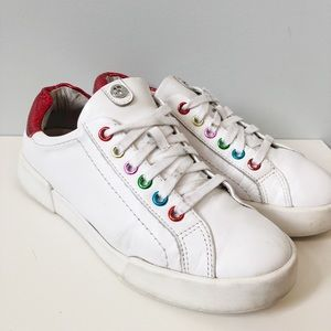 The Wishbone Collection Rainbow Sneakers White